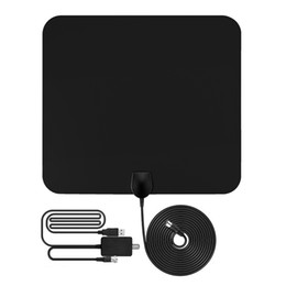 Wholesale Wholesale Tv Antennas - 1080P Antena Digital HDTV Antenna 50 Miles Range Indoor Flat TV Antenna With USB Powered Signal Amplifier