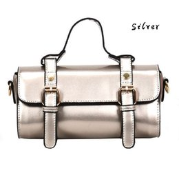 Wholesale Silver Beautiful Bags - LONG BARREL STYLE TOTE WITH STRAP, CHIC WESTERN WOMEN HANDBAG, BEAUTIFUL SHOULDER BAG, CHARACTERICSTIC LADY BAG FOR ELEGANT LIFE
