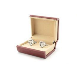 Wholesale Men Jewelry Packaging - Fashion Cufflink Jewelry Box Case Black Packaging Organizer Cuff-Link Tie Clip Gift Box for Men ZA5722