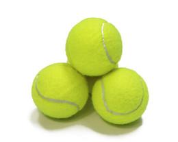 Pelota de tenis estándar de entrenamiento de goma buena rebote 1.3 metros tenis duradero jugando pelota oficial neón amarillo pelota deportiva sin logotipo desde fabricantes