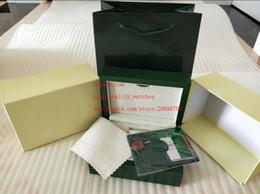 наручные часы магазин Скидка Завод поставщик зеленый бренд оригинальный футляр бумаги подарочные часы коробки кожаный мешок карты 185 мм * 134 мм * 84 мм 0.7 кг для 116610 116660 116710 часы