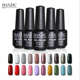 Gel manicure top coat online-IMAGIC 88 colores UV Nail Gel Polish Manicure 8ML Barniz Uñas Gel de Limpieza Larga Duración Top Coat Nails Gel Lacquer