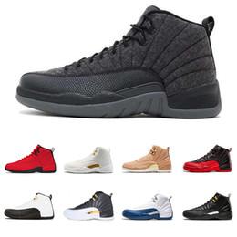 Мужская обувь онлайн-Retro Air Jordan 12 AJ12 Мичиган 12 Vachetta Tan 12s WINGS ВМС мужчины-баскетбольная обувь быков UNC Flu Игра мастера черного белого такси мужчины Спортивный дизайнерские кроссовки