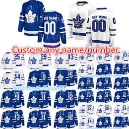 Wholesale Leafs Toronto - 2018 New Toronto Maple Leafs Custom Jersey Men's #25 James Van Riemsdyk 31 Frederik Andersen 42 Tyler Bozak 44 Rielly Hockey Jerseys