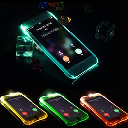 Wholesale Flash Soft - For iPhone X 8 7 6 Plus Soft TPU LED Case Flash Light Up Remind Incoming Call Cover For Samsung S8 S7 S6