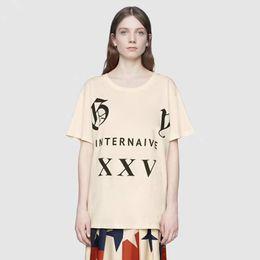 Wholesale cool vintage shirts - Garden Luxury Brand T-shirt High-end Men Women Animal Letter Print Street Short Sleeve Vintage Summer Breathable Cool Casual Tee HFYMTX292