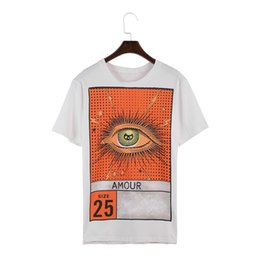 Wholesale eye shirts - 18ss Luxury Europe Italy Amour Vintage Eye size 25 Tshirt Fashion Men Women T Shirt Casual Cotton Tee Top