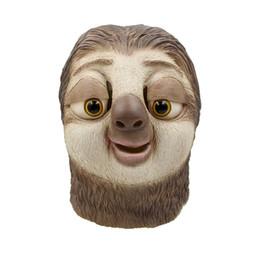 Детские игрушки онлайн-Хэллоуин маска ленивец латексная маска ник уайлд латекс с полной головой животных маска хэллоуин ну вечеринку косплей опора аксессуары игрушки A8A48
