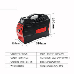 Wholesale 12v lithium ion battery packs - 220V USB AC DC 500W Mini UPS Portable AC Power Bank Power Pack Multi Outlet Li-ion Lithium Battery for camping