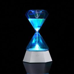 Lámpara cayendo online-Decoración del hogar reloj de arena de inducción led luz nocturna larga vida colorida lámpara de mesa administrador de tiempo para caer dormido regalos