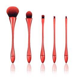 Wholesale Plastic Goblets - 5pcs New goblet Small Waist Professional Make Up Makeup Brushes Set Kit with Box Pincel Maquiagem