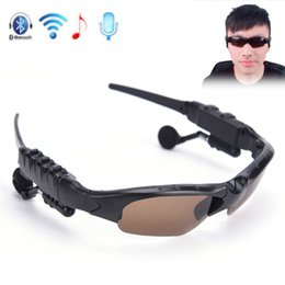 Wholesale eye glasses kit - Popular bluetooth glasses lens wireless headset telephone driving sunglasses eye glasses bluetooth Car Kit