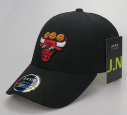 Wholesale Bull Caps - 2018 Fashion bulls Baseball Caps 3 Colors Peaked Cap outlet Adjustable Snapbacks Sport Hats Drop Shipping Mix Order