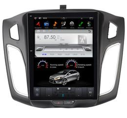 """2019 rádio para toyota yaris 10.4 """"Navegador de GPS do carro da multimídia do carro do andróide 7.1 do estilo de Tesla para Ford Focus 2012-2015 com rádio BT nenhum carro DVD"""