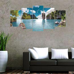 Wall 3d Poster Art Rabatt 5 Teile / Satz 3D Thailand Sea Island Kombination  Wandaufkleber Steuern