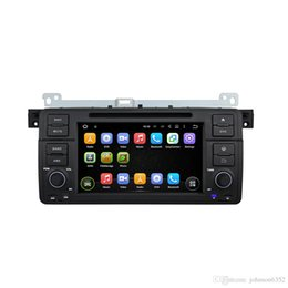 Wholesale Android Bmw Bluetooth - 2018 hot sell Car audio HD android 7.1 Single 1 Din quad Core 1024*600 Car DVD Plyer GPS Navigation For BMW E46 M3 318 320 325 Audio Stereo