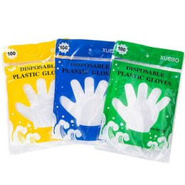 Wholesale disposable gloves wholesale - DHL SHIP 100pcs Bag Disposable Food Grade Gloves Transparent Beauty Housekeeping Health Cleaning Gloves In Retail Bag WX9-345