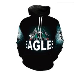 Wholesale Browning Eagle - Cloudstyle New Fashion Eagle Hoodies Men Thin 3d Sweatshirts With Hat Print Euramerican Funny Hooded Hoodies Plus Size 5XL