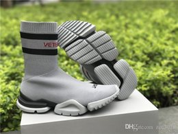 c00a43d51dbdb VETEMENTS SS CREW UNISES Sock Trainer Dropping RUNNING Shoes CN3307 Grey  Stretch Socks Shoes Luxury Brand Sneaker