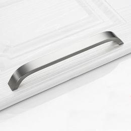 Wholesale Aluminum Cabinet Handles - Bar Pull Kitchen Handle Aluminum Alloy Door Handles for Furniture Cabinet Drawer Knobs Furniture Hardware Hole Center 96mm~192mm