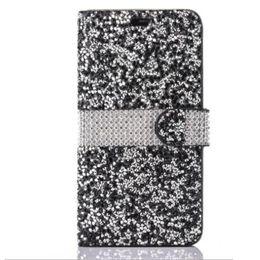 Canada Etui portefeuille pour iPhone 8 Galaxy ON5 Diamond Case pour iPhone 6 LG K7 Stylo Bling Bling Étui en PU en cuir PU pour carte Opp 2018 HOT NOUVEAU Offre