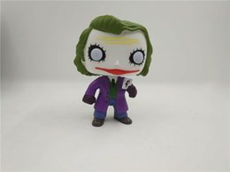 Wholesale Action Figure Sales - Suzannetoyland on sale 10cm Joker The Dark Knight Animation Action Figure PVC Model Toy Doll Brinquedos