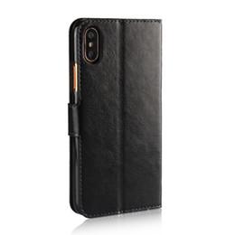 Étui en cuir de luxe d'affaires rétro cas Crazy Horse Flip pour iPhone XS XR MAX X 8 7 6S Plus Samsung S9 S8 S7 Plus J3 J5 J7 2017 cas Caver ? partir de fabricateur