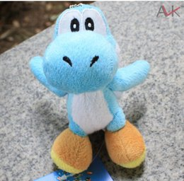Wholesale Wholesale Mario Bros Toys - Wholesale-Super Mario Bros Yoshi 4in Plush Doll Toy Keychain Decoration Pendant Green