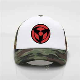 ball trends Coupons - Latest model Japanese Anime Naruto Akatsuki Red Cloud Printing net cap baseball cap Men and women Summer Trend Cap Mesh Hat