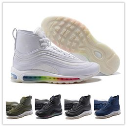 Wholesale Max Edition - 2018 New 97 Mens high ankle Running Shoes Cushion Men OG Silver Gold Anniversary Edition Sneakers Man Maxes Athletic Sports shoes