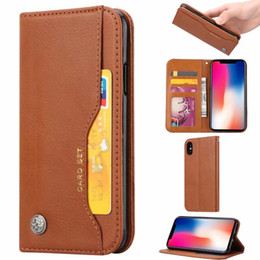 Rétro Cash ID carte Slot En Cuir Étui Portefeuille Pour Iphone XR XS MAX X 8 7 6 Un Plus 6 LG K8 K10 2018 Flip Cover Suck Magnetic Case de fermeture ? partir de fabricateur
