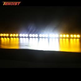 luzes led automotivas atacado Desconto 44 Polegada 240 W Única Linha de Luz Bar Âmbar Lente Transparente Para Offroad Wrangler Hilux Caminhão ATV 12 V 24 V