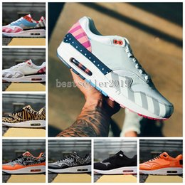 5ae9965bd380a 2018 Piet Parra x 1 SE DLX ATMOS Bred Floral Camo Premium Plaid Suede  Running Shoes Women Mens Maxes Trainers 1s Chaussures Sneakers36-45