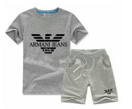 Argentina 2018 HOT boy Kids Sets niños camiseta y pantalón niños algodón establece Baby Boys niñas traje de verano Baby Sport Suit 2pcs Set Suministro