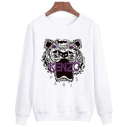 Wholesale Tiger Hoodie Yellow - Autumn Fashion Print Sweatshirts Men Brand Style White Funny Casual Tiger Sweatshirt Long Cool Cotton Winter Hoodie Men HD686
