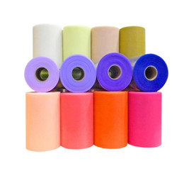 Wholesale red tulle rolls - Tulle Roll 15cm 100Yards Roll Polyester Spool Tutu Party Birthday Gift Wrap Wedding Decoration Party Favors Event Supplies
