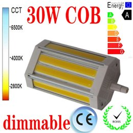 Freies Verschiffen 30W dimmable R7S führte Licht 118mm KEIN Fan PFEILER geführte R7S Lampe J118 AC85-265V von Fabrikanten