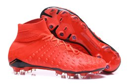 Wholesale Cr7 White Indoor Shoes - Original New Mercurial CR7 Superfly Neymar AG FG Soccer Shoes Indoor Hypervenom Phantom III JR Football Boots Magista Obra II Soccer Cleats
