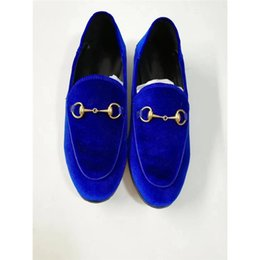 Wholesale Ladies Velvet Flats - 2018 Fashion Brand Womens Velvet Flats Princetown Shoes Round Toe Metal Chain Ladies Loafers Flats Spring Autumn Casual Shoes C801
