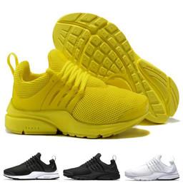Wholesale body breathe - 2018 Men Women PRESTO BR QS Breathe triple Black White yellow Sports Shoes trainer shoes size Eur 36-45