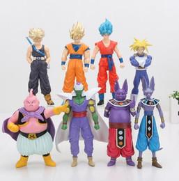 Wholesale Kid Buu - Movies & Video Game&cartoo8pcs set Dragon Ball Z Super Saiyan Goku Trunks Champa Beerus Piccolo Majin Buu PVC Figures Collectible Model Toys