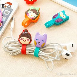 Wholesale Silicone Ear Clip - cute cartoon animal Press buckle bobbin winder ear mechanism storage line multi-function receive Bag clip