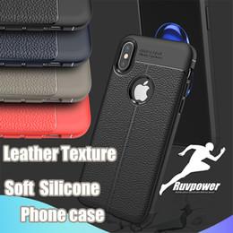 edizione telefono nero Sconti Custodia protettiva in similpelle per iPhone X XR Xs Max Custodia rigida in similpelle per Samsung Note 9 S8 S9 Plus