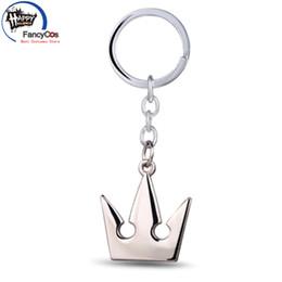 Correntes extravagantes para jóias on-line-Animação Kingdom Hearts prata coroa Imperial chaveiro Corrente chave De Metal Fancy Jewelry Costume Cosplay Halloween Filme