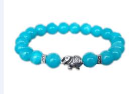 индийский браслет удачи Скидка 12 шт. / лот синий Аквамарин браслет слон браслет для женщин удачи энергии браслет индийский слон подруга подарок