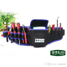 оптовые комплекты доказательств Скидка Оптовая продажа-LAOA многофункциональный инструмент карманы высокое качество инструменты сумка 600D водонепроницаемая ткань Оксфорд сумка набор инструментов пакет