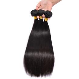 Las extensiones brasileñas rectas sedosas del pelo 3Pcs / lot el pelo humano sin procesar teje tramas peruanas baratas baratas del pelo de la venta al por mayor envío libre desde fabricantes