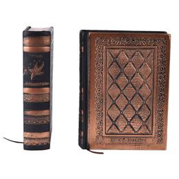 Papier kraft doré en Ligne-Vintage en cuir journal vierge kraft papier épais cahier A5 journal couverture rigide fait à la main en relief livre or bord
