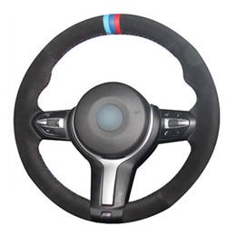 2019 volante x5 Volante de couro top mão-ponto na tampa do envoltório para bmw f22 m4 m5 m6 x5 x6 volante x5 barato