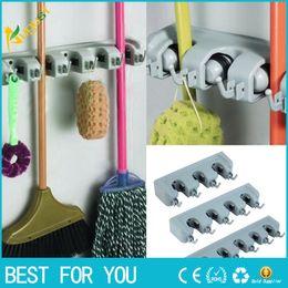 Wholesale Insert Tool Holders - New hot 3pcs set Practical Wall Mounted Mop Organizer Holder Brush Broom Hanger Storage Rack Home Tool